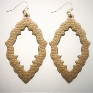 Leather earrings, fashion earrings